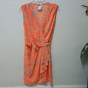 Yoana Baraschi Dress Animal Print Cheetah Wrap XS